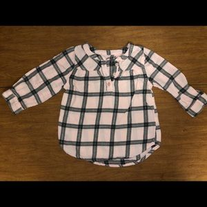 WUC Jumping Beans Sz 18M Pink & Black Plaid Top